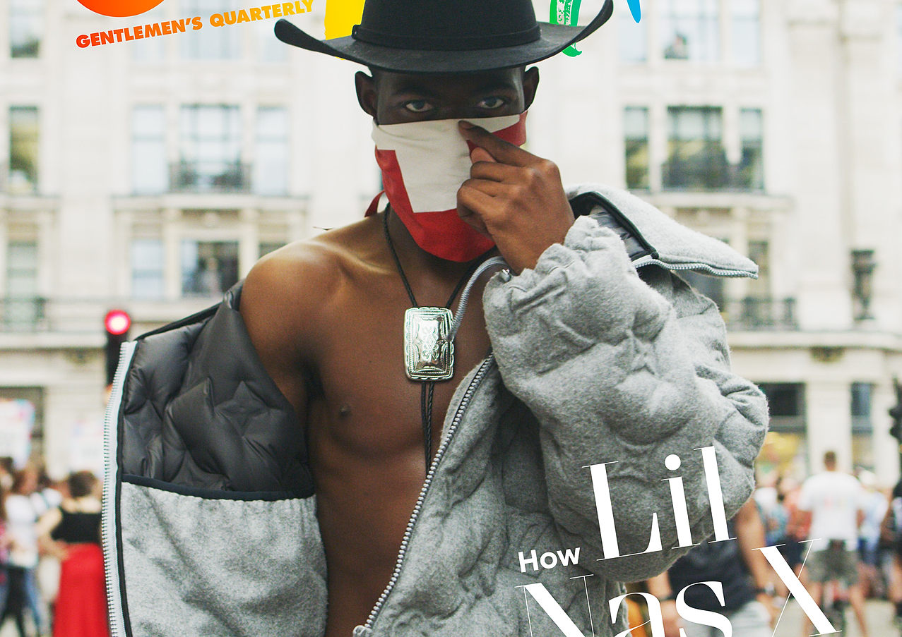 Screenshot from Lil Nas X Cover Loop for British GQ Magazine