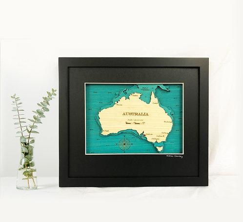 Australia Sml 30 x38