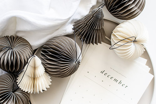 Sage Onion Ornament with Silver Glitter Edge