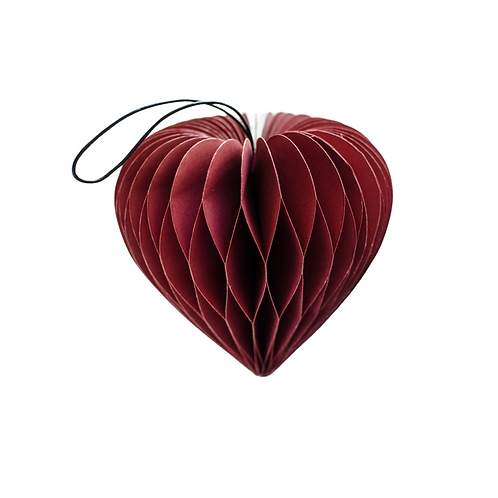 Classic Red Heart Ornament