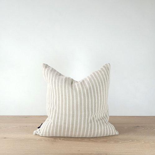 Spencer Cushion - Ivory Stripes