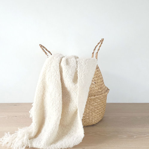 Windermere Throw - Cream Boucle