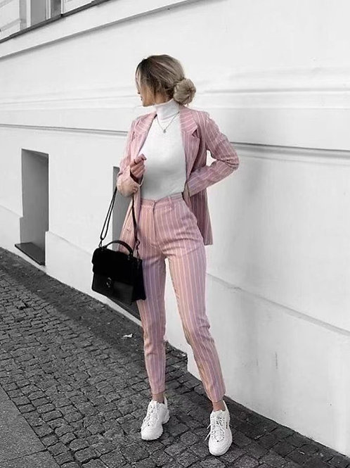 Pink Pinstriped Suit