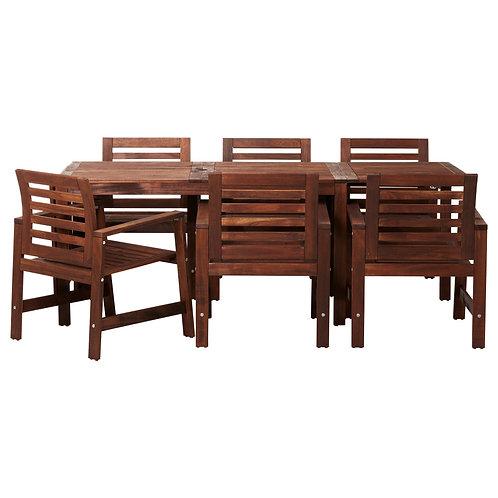 Teak Adjustable Table