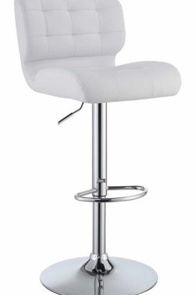 White Leather Stage Stool