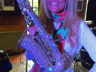 My New Swarovski covered crystal Sax!