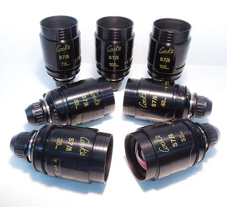 Cooke S7i Full Frame 25,32,40,50,75,100,135