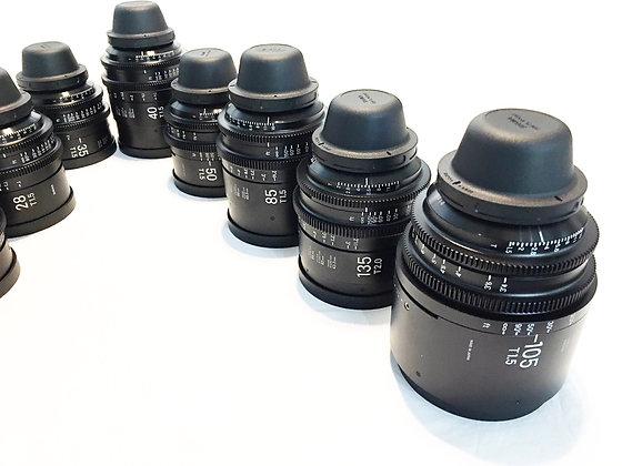 Sigma Cine Prime Fully Luminious 10 lens set