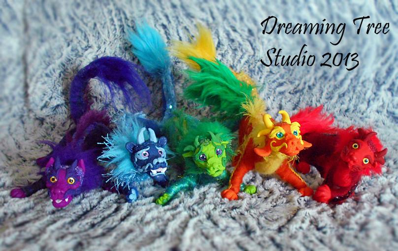 'Chinese Dragon' Art Dolls