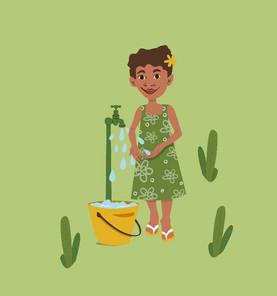 Hand washing in Vanuatu