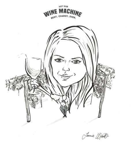 hot dub wine machine caricature 3-Recove