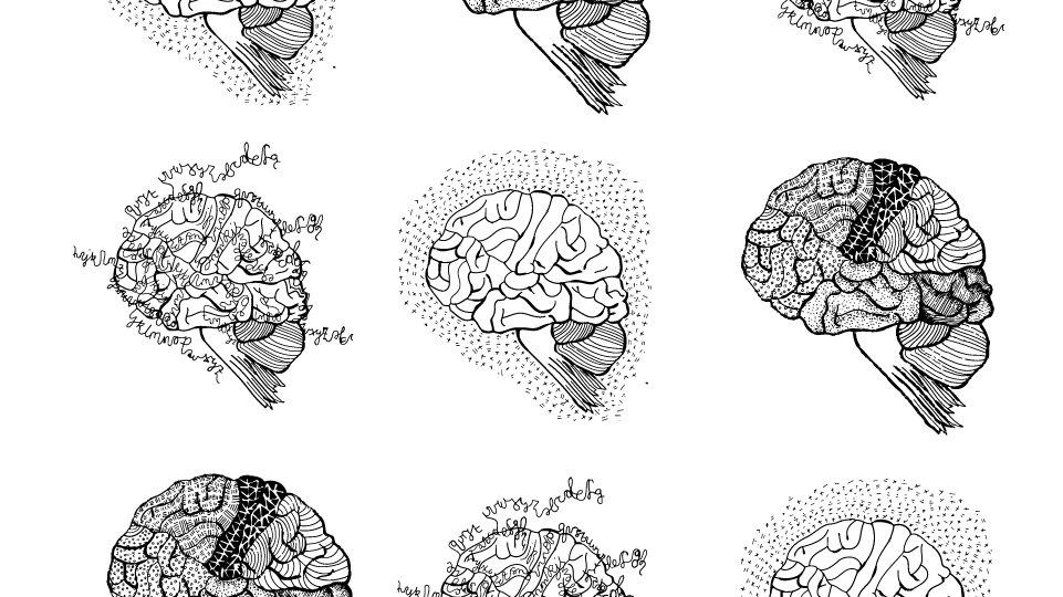 creative brain print