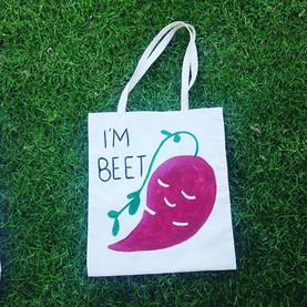 'I'm Beet' totebag