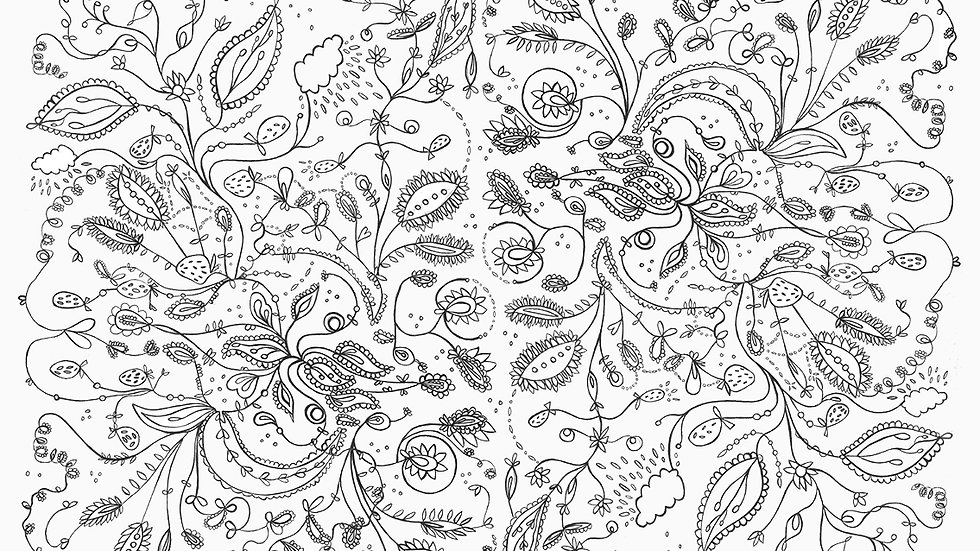 peaceful pattern print