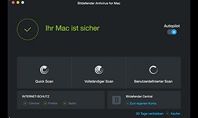 Antivirus-Software für Mac, Bitdefender für Apple