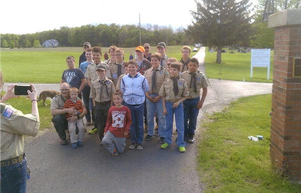 Boy Scouts Help Cemetery 2019 Memorial W