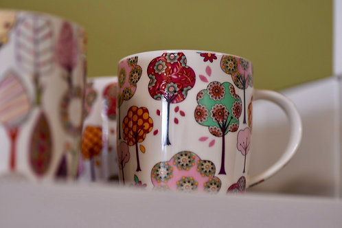 Pink Tree Mug