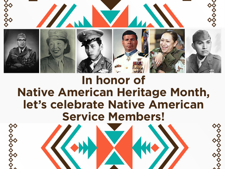 In honor of Native American Heritage Month, let's celebrate Native American Service Members.