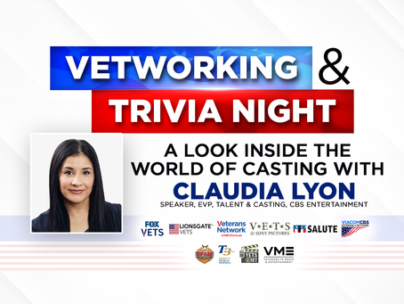 Vetworking & Trivia Night with Claudia Lyon, EVP, Talent & Casting, CBS Entertainment