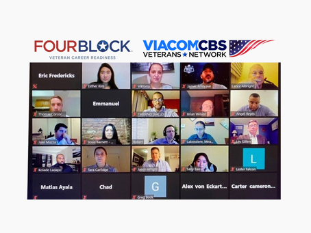 NYC FourBlock Class and ViacomCBS' Mentorship Prepares Veterans with Mock Interviews