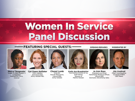 ViacomCBS Veterans Network would like to invite you to a powerful discussion on Women In Service