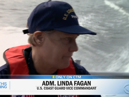 Coast Guard's first female four-star admiral reflects on her journey and the service's mission