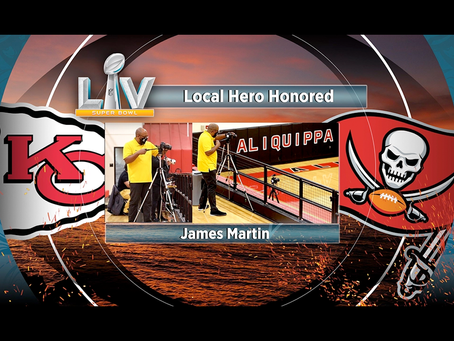 James Martin Honored During Super Bowl LV Coin Toss