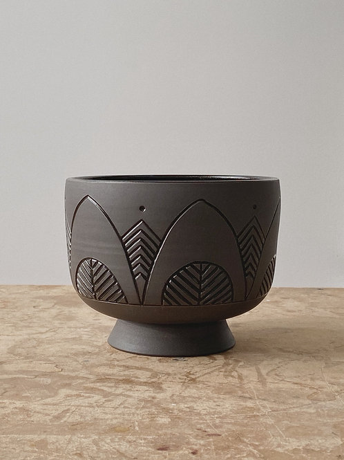 Dark Pedestal Planter