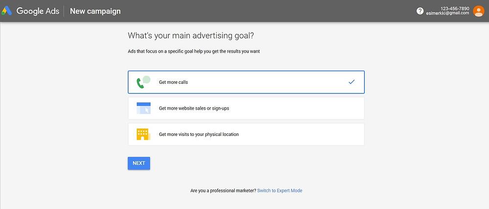 Google Ads älykkään kampanjan aloitus