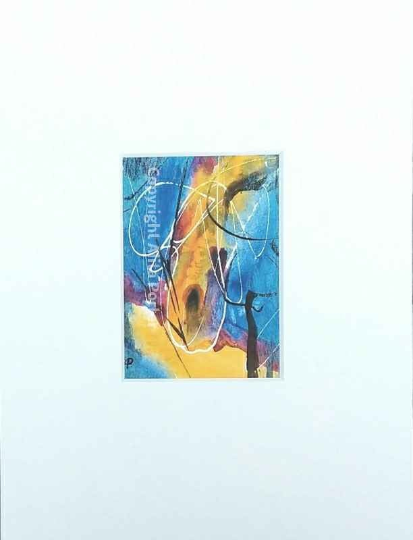"Original abstract watercolour painting, ""Mini No.2""."