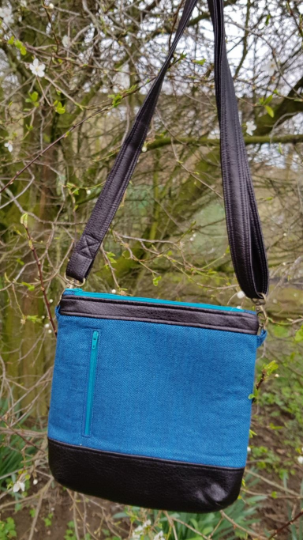Rich teal blue Jasmine shoulder or crossbody bag
