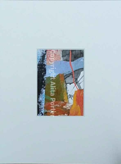 "Miniature original collage and acrylic painting, ""Mini No. 5"""