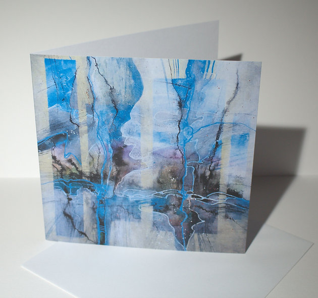 """Abstract Greetings Card, from artist's original painting """"Winter"""""""