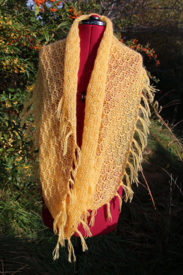 Hand made knitted infinity cowl