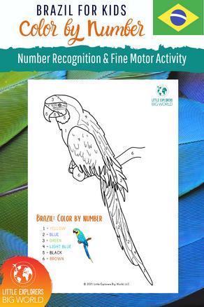 BRAZIL: Color by Number Brazilian Birds!