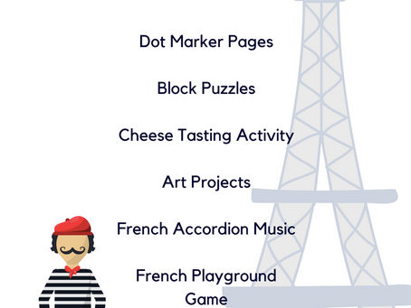 FREE Printable France Unit for Preschool