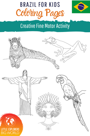 BRAZIL: Coloring Pages Freebie