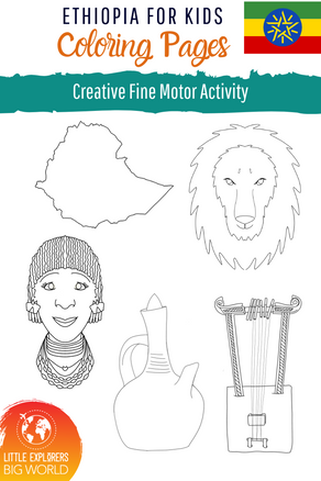 ETHIOPIA: Coloring Pages Freebie