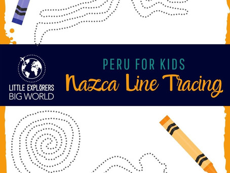 Nazca Lines Tracing Pages - Peru for Kids