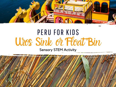 Uros Sink or Float Sensory Bin