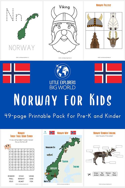 NORWAY Printable Pack (Pre-K/ K)