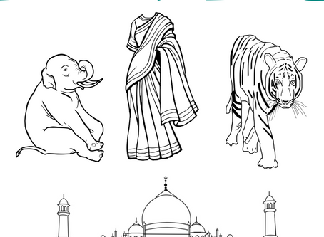 India for Kids: Coloring Pages