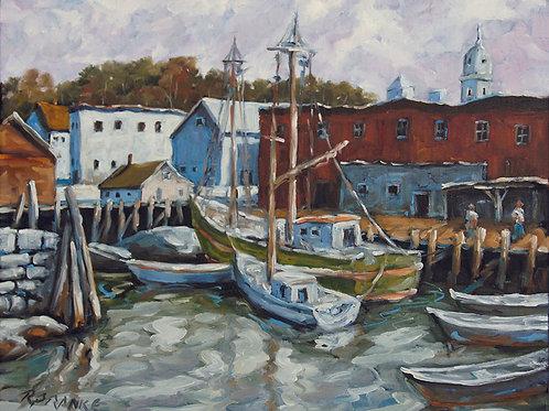 Seascape Dock Scene