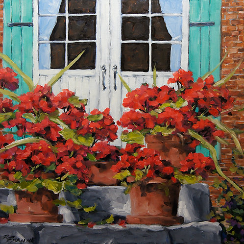 Geraniums on the Porch