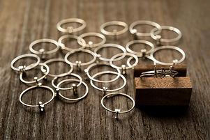 イニシャルリング、指輪