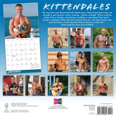 A calendar mashup of kittens and sexy firefighters.