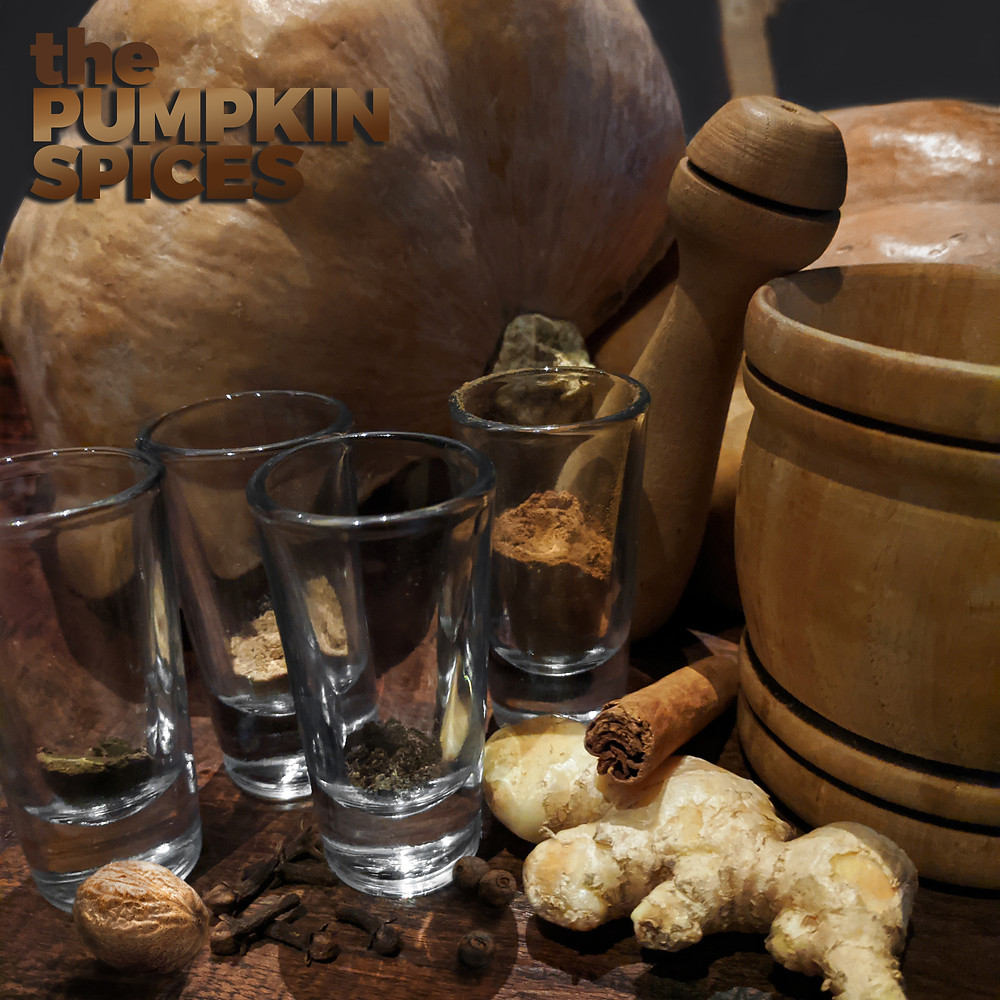 The original fantastic four: pumpkin spices ginger, cinnamon, cloves, and nutmeg.