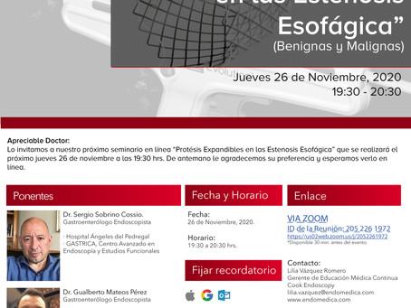 """[Seminario] """"Protésis Expandiblesen las Estenosis Esofágica"""" (Benignas y Malignas)"""