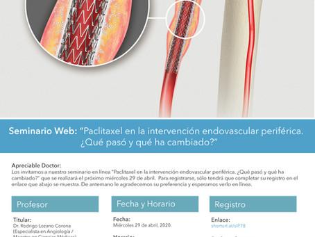 """Seminario en Línea: """"Paclitaxel en la intervención endovascular periférica..."""""""