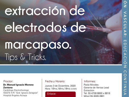 [CITIC] INTERACTIVO: Técnicas de extracción de electrodos de marcapaso. Tips & Tricks. 03/12/20
